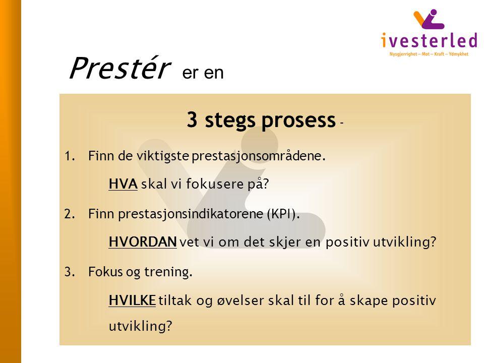 Prestér er en 3 stegs prosess - Finn de viktigste prestasjonsområdene.