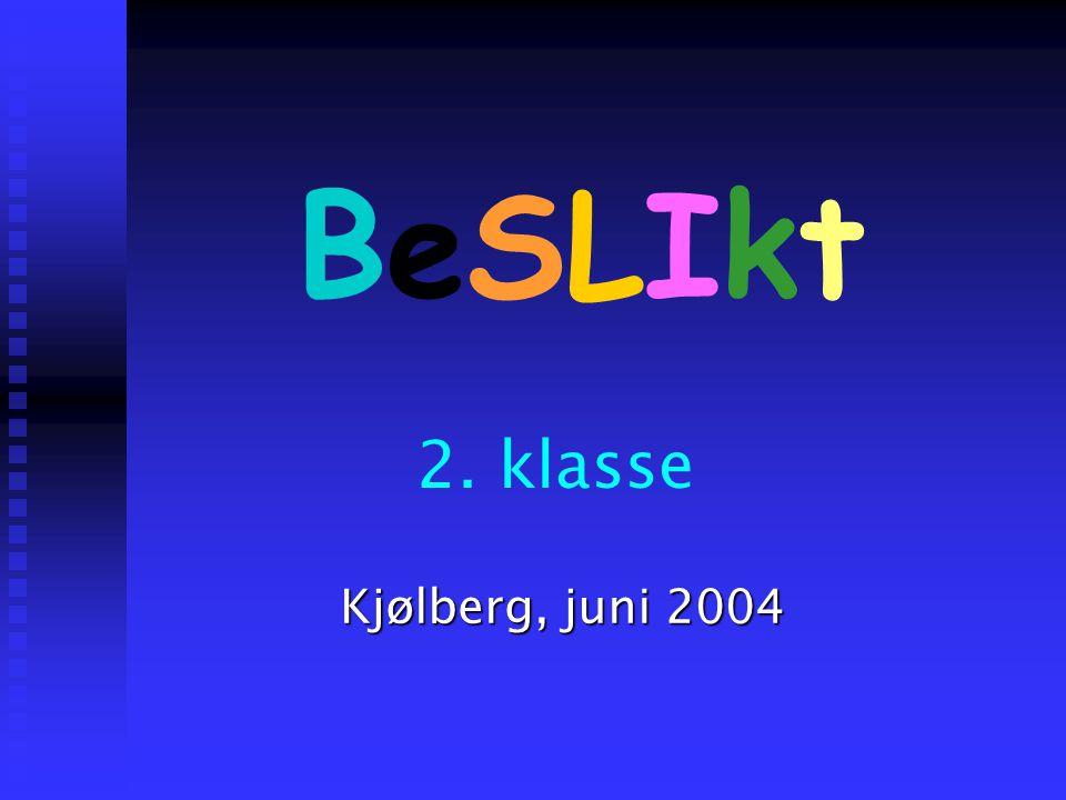 BeSLIkt 2. klasse Kjølberg, juni 2004