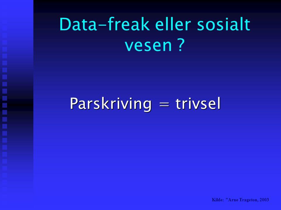 Data-freak eller sosialt vesen