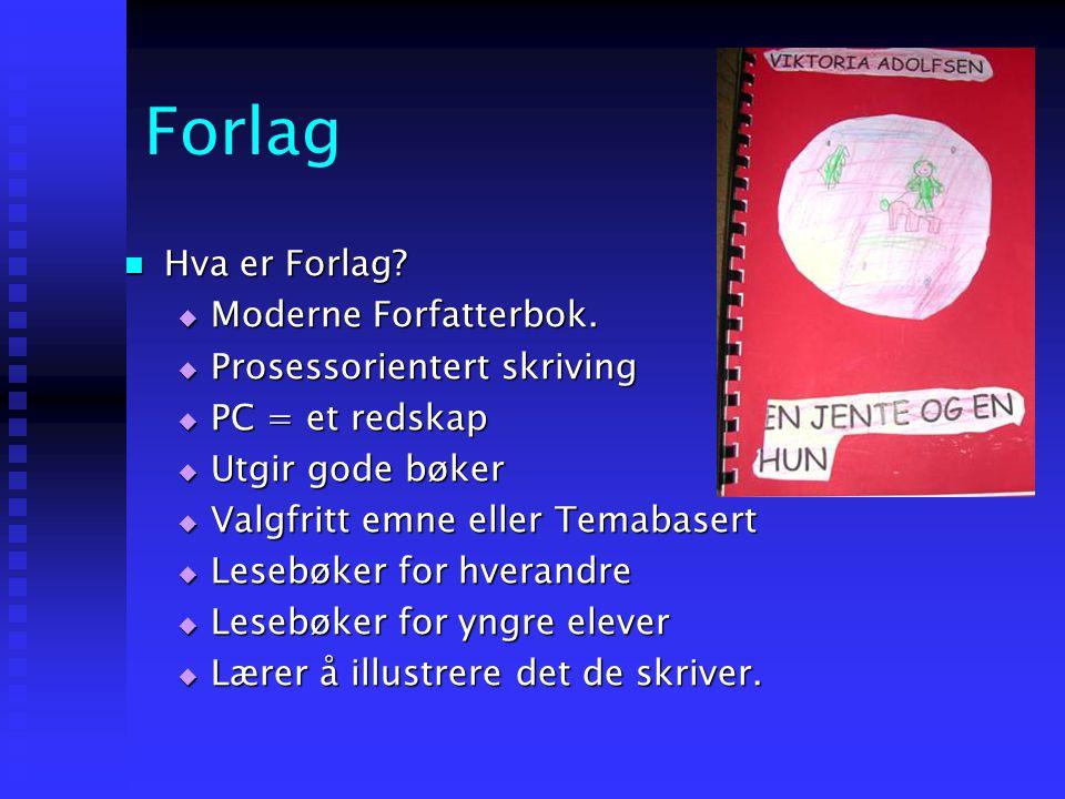 Forlag Hva er Forlag Moderne Forfatterbok. Prosessorientert skriving