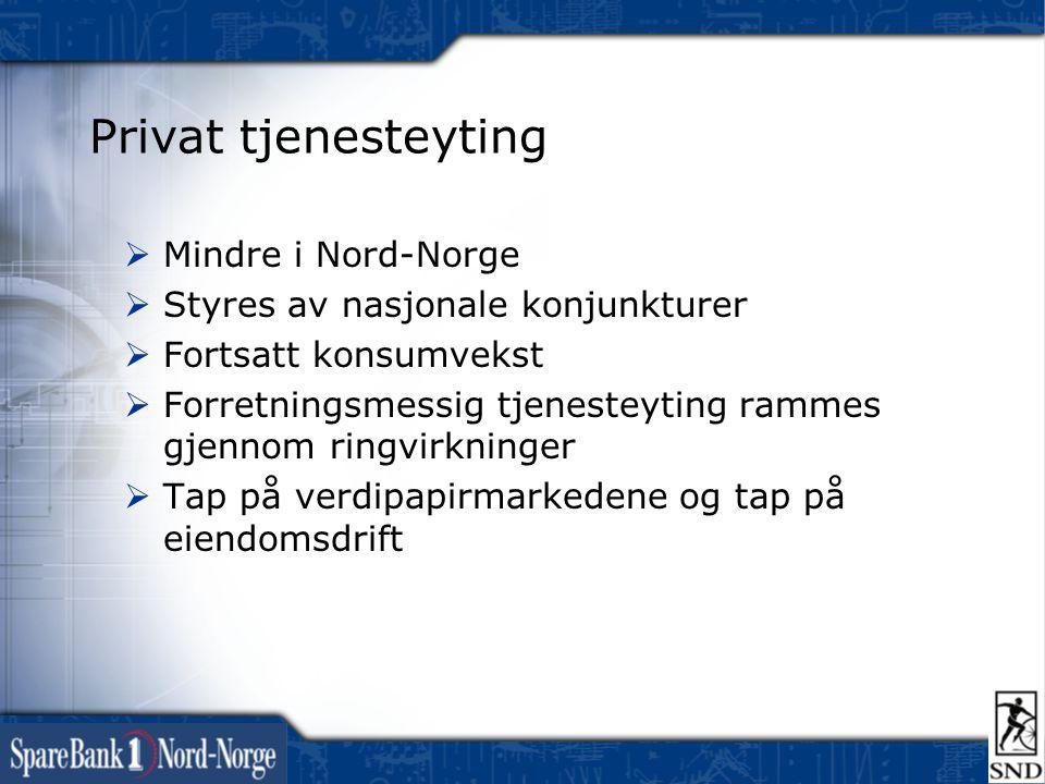 Privat tjenesteyting Mindre i Nord-Norge