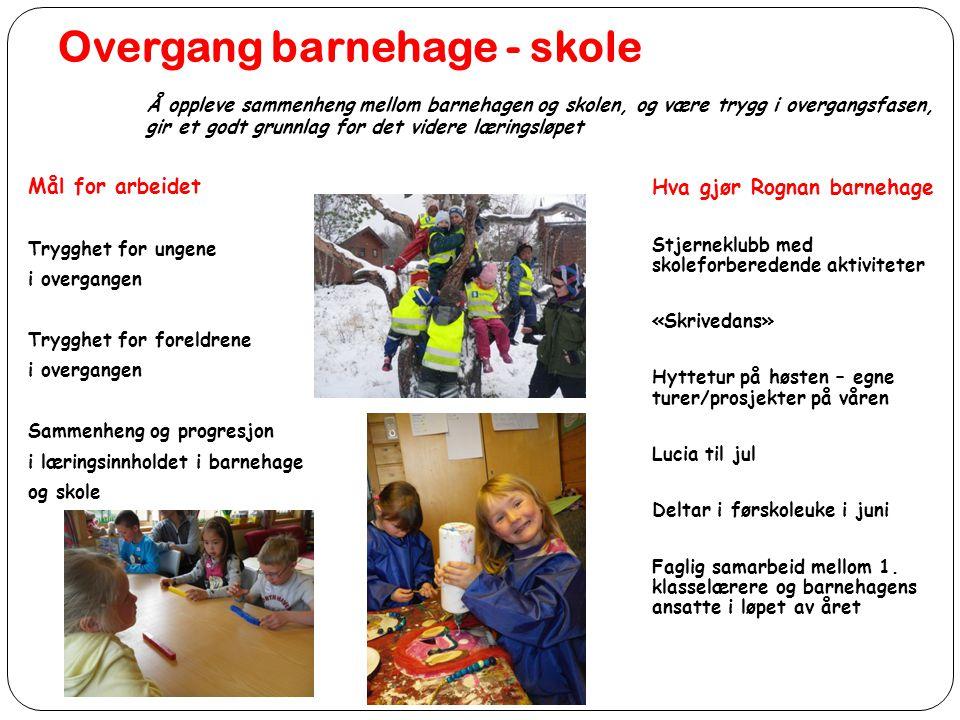 Overgang barnehage - skole