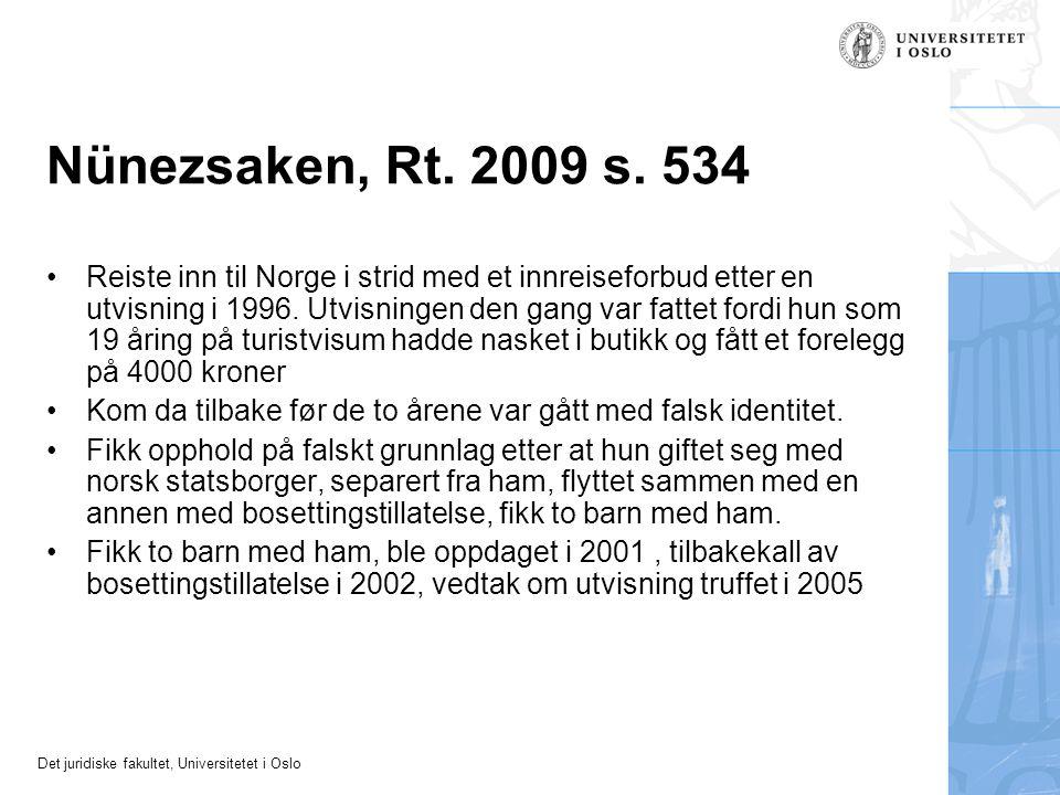 Nünezsaken, Rt. 2009 s. 534
