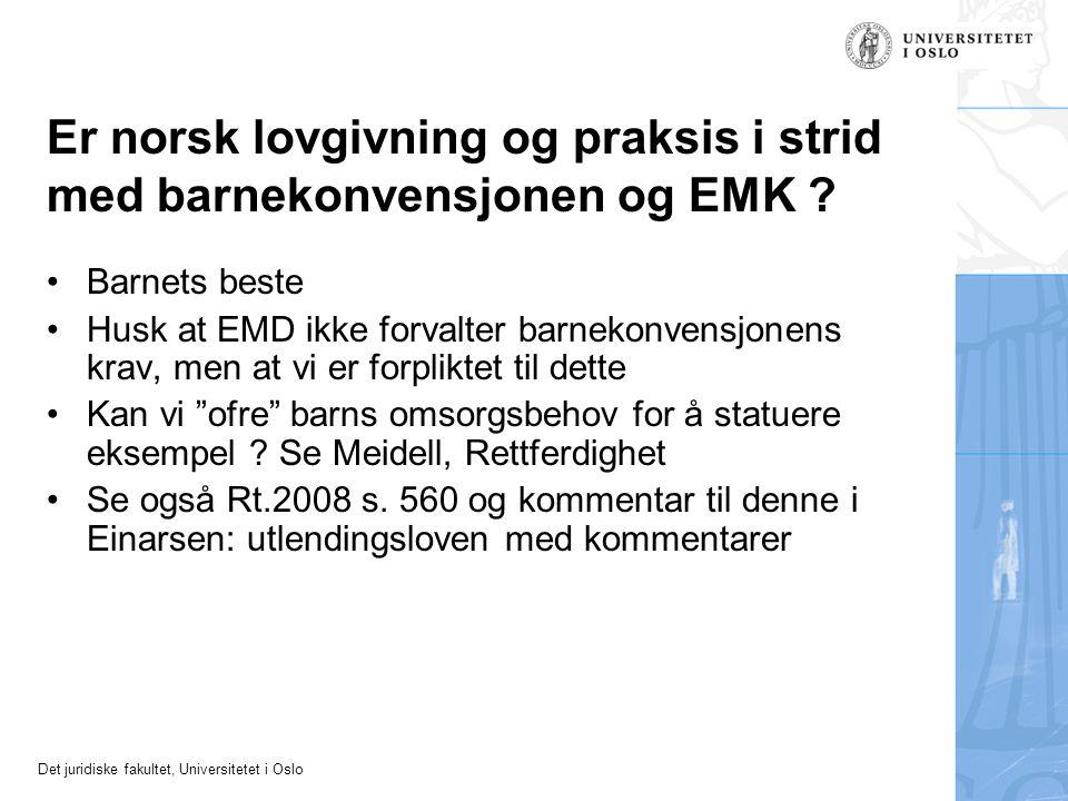 Er norsk lovgivning og praksis i strid med barnekonvensjonen og EMK