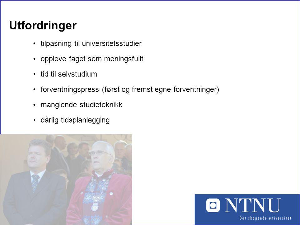 Utfordringer tilpasning til universitetsstudier