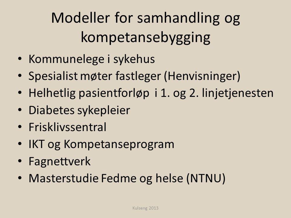 Modeller for samhandling og kompetansebygging