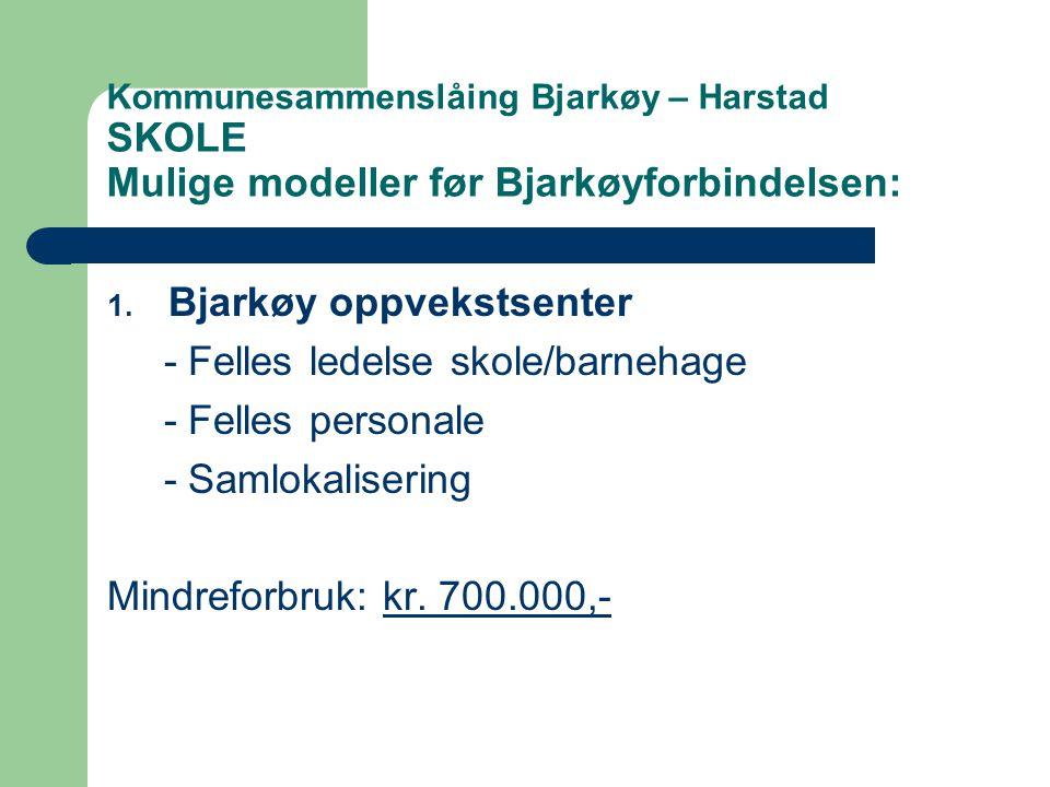 Bjarkøy oppvekstsenter - Felles ledelse skole/barnehage