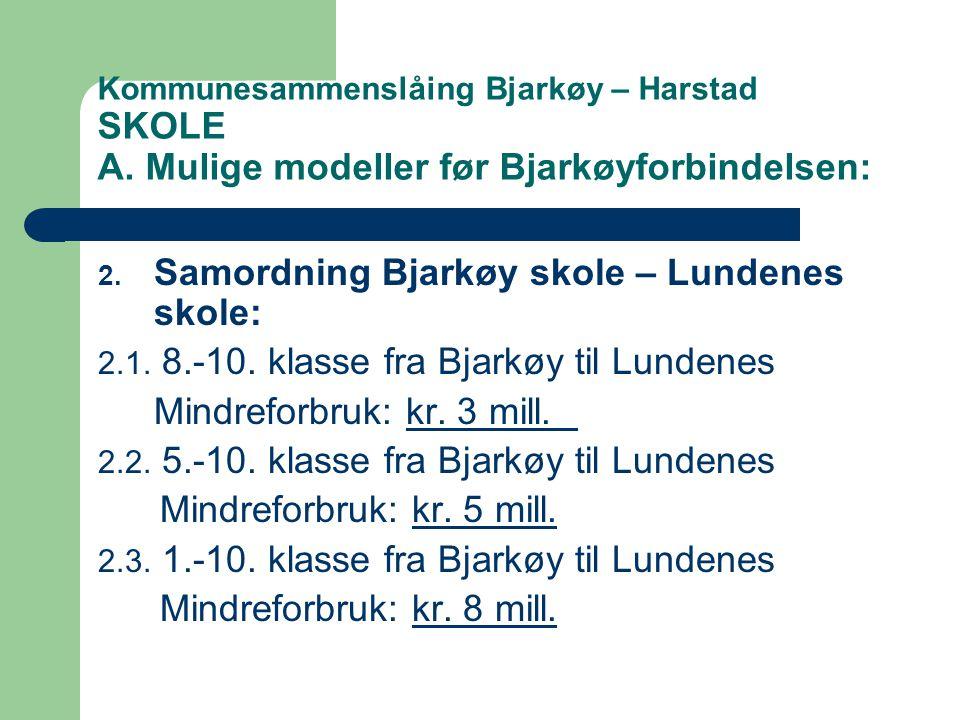 Samordning Bjarkøy skole – Lundenes skole: