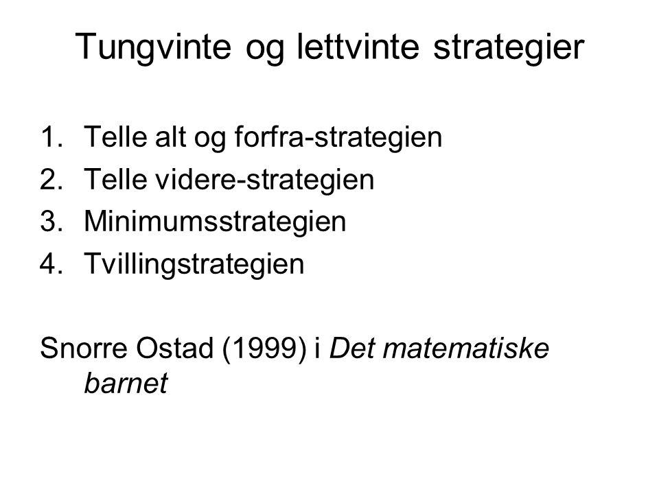 Tungvinte og lettvinte strategier