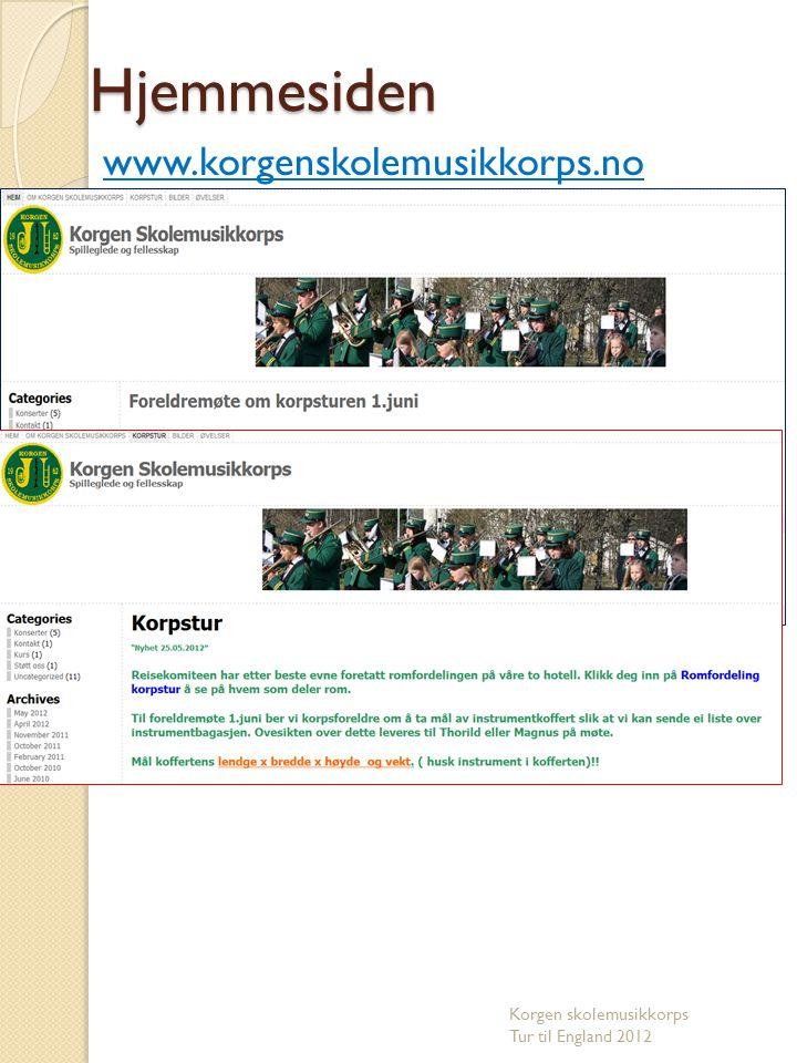 Hjemmesiden www.korgenskolemusikkorps.no