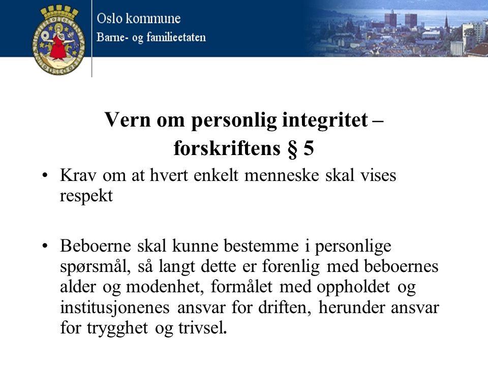 Vern om personlig integritet –