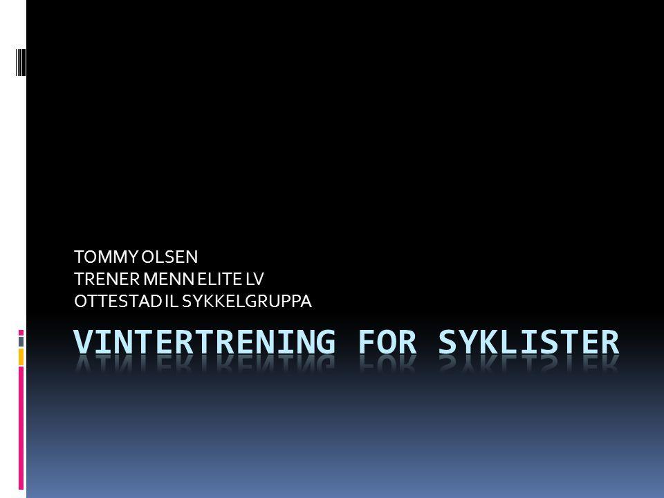 VINTERTRENING FOR SYKLISTER