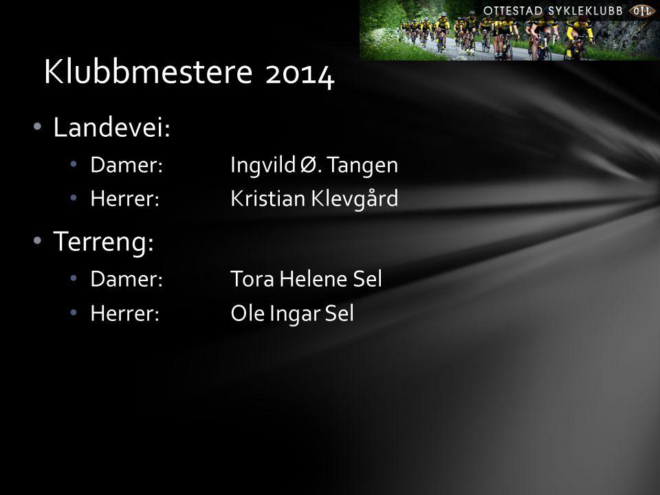 Klubbmestere 2014 Landevei: Terreng: Damer: Ingvild Ø. Tangen