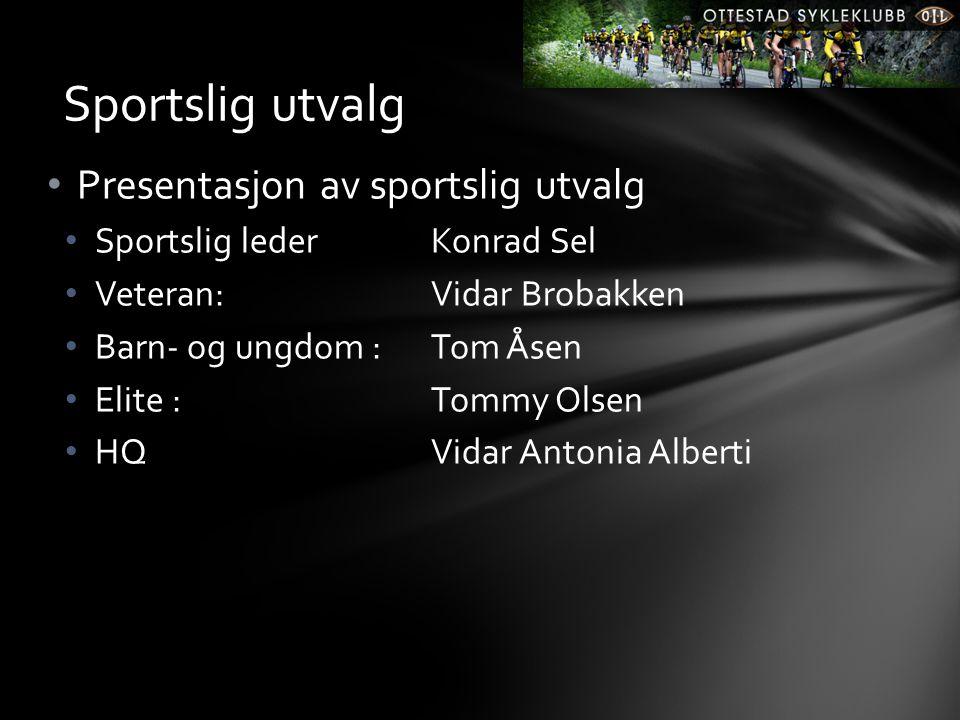 Sportslig utvalg Presentasjon av sportslig utvalg