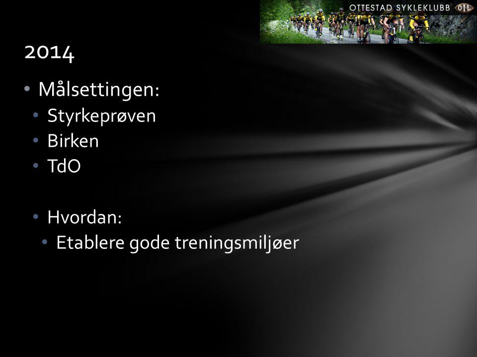 2014 Målsettingen: Styrkeprøven Birken TdO Hvordan: