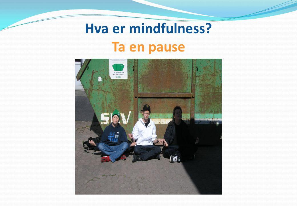 Hva er mindfulness Ta en pause