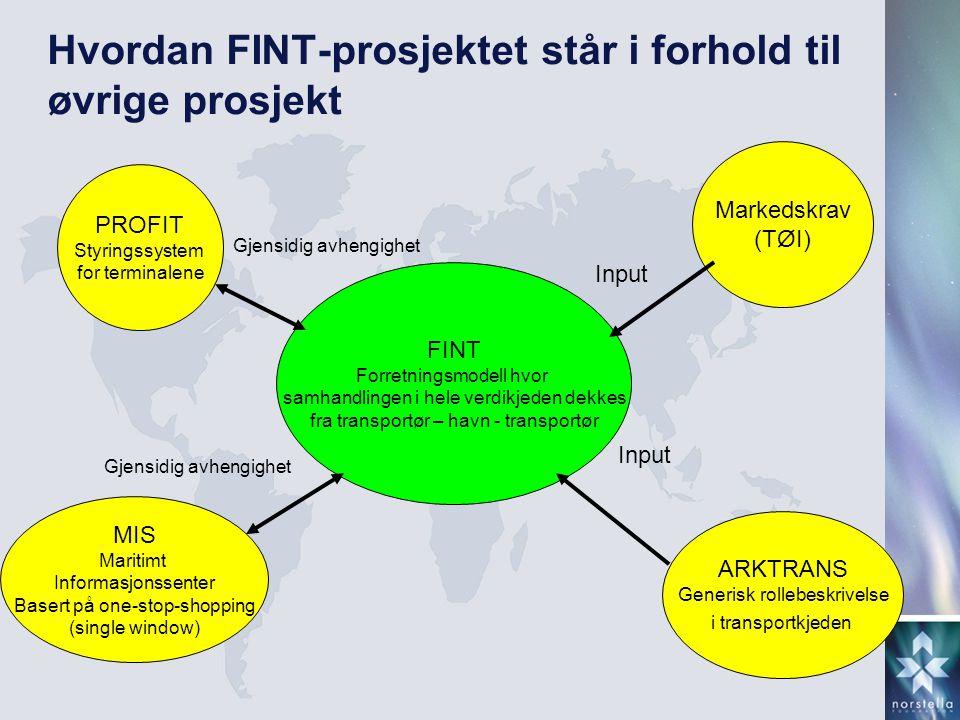 Hvordan FINT-prosjektet står i forhold til øvrige prosjekt