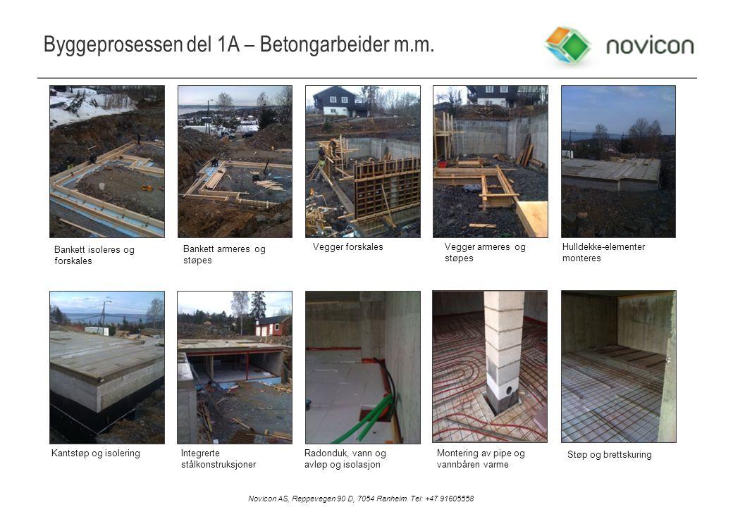Byggeprosessen del 1A – Betongarbeider m.m.