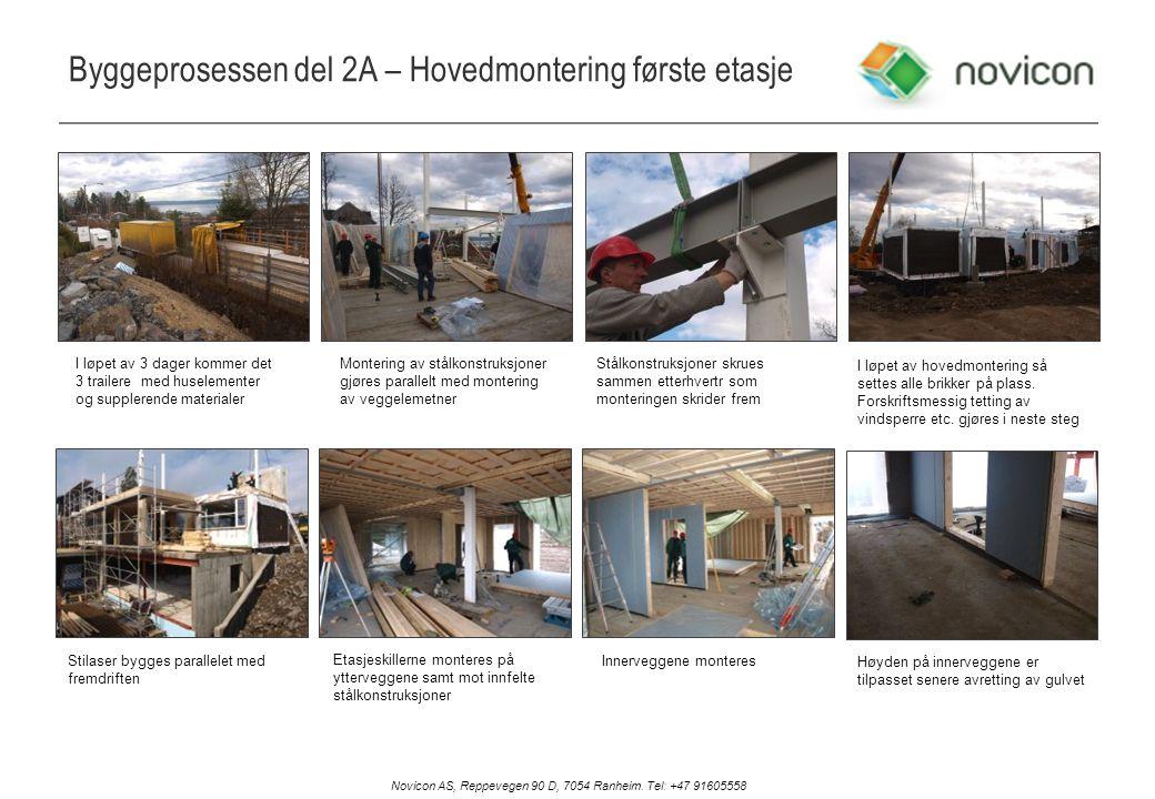 Byggeprosessen del 2A – Hovedmontering første etasje