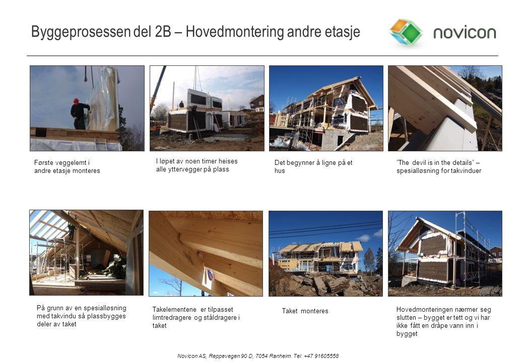 Byggeprosessen del 2B – Hovedmontering andre etasje