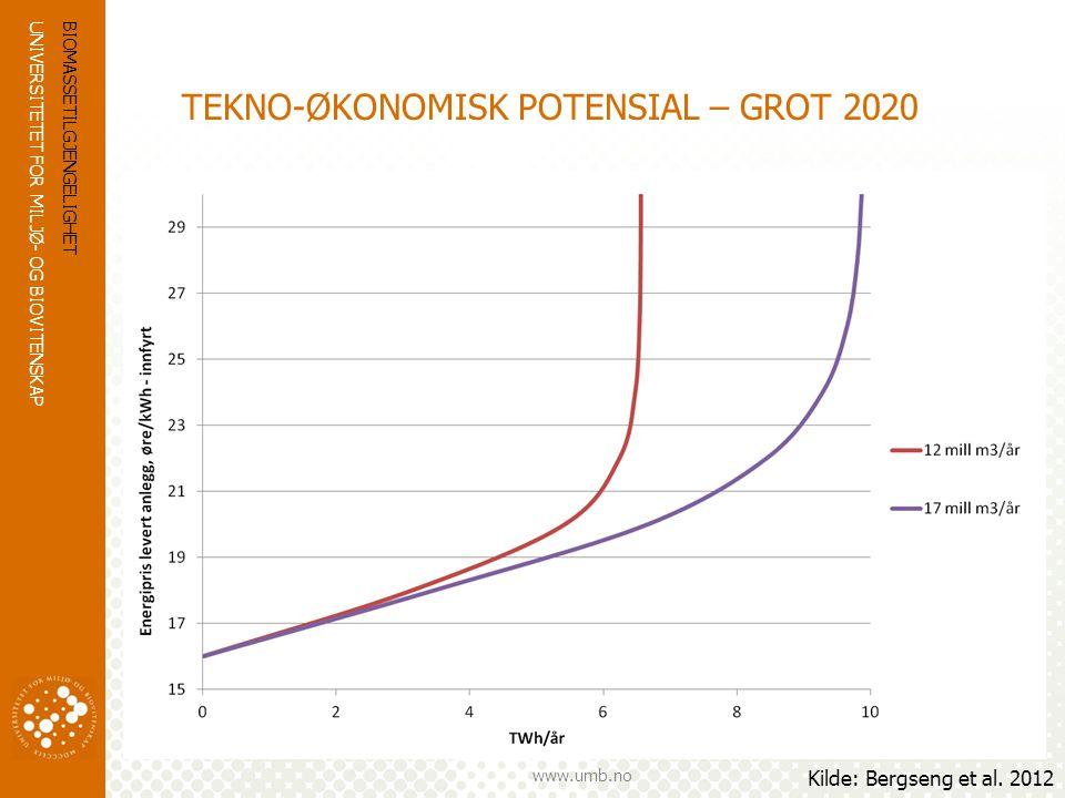 TEKNO-ØKONOMISK POTENSIAL – GROT 2020