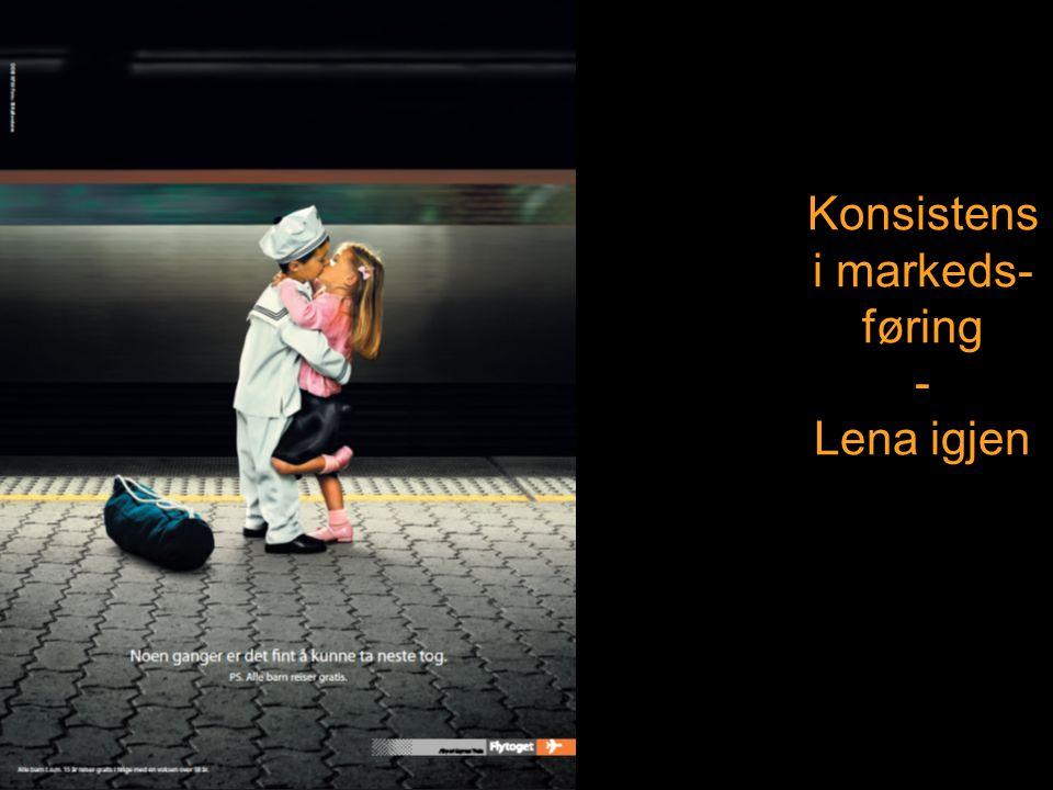 Konsistens i markeds-føring - Lena igjen