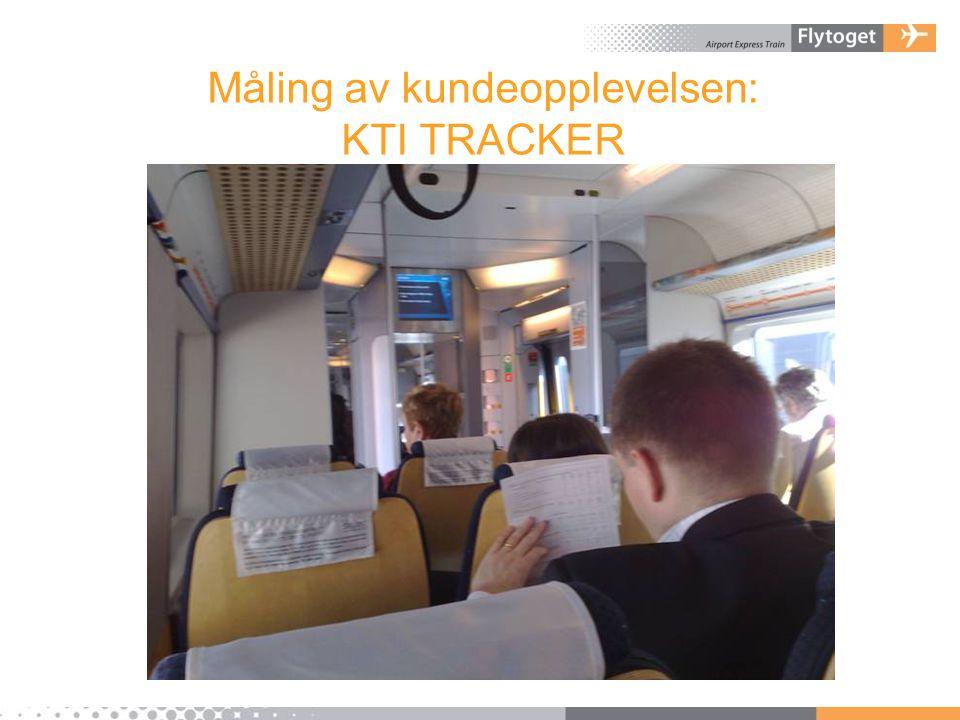 Måling av kundeopplevelsen: KTI TRACKER