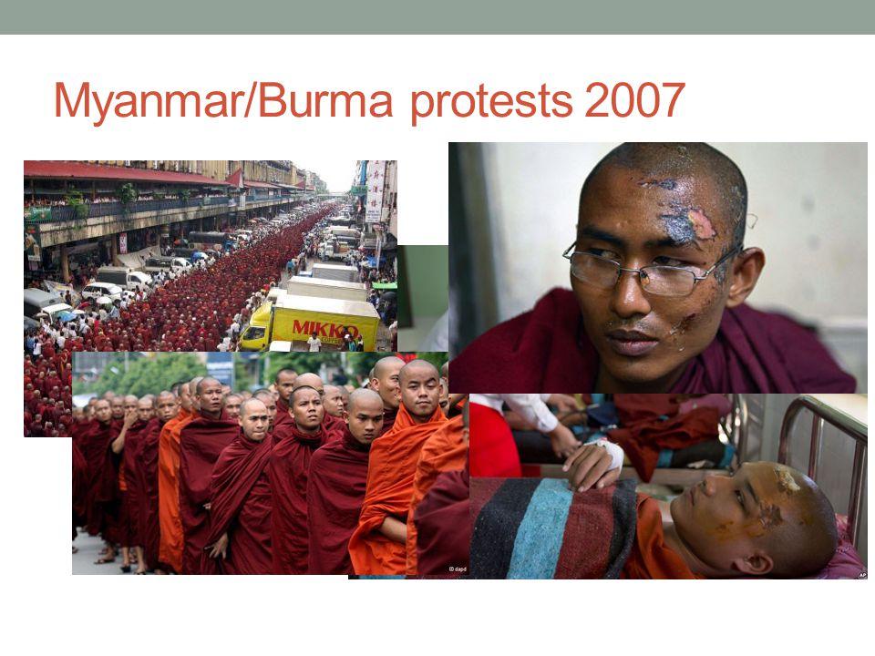 Myanmar/Burma protests 2007