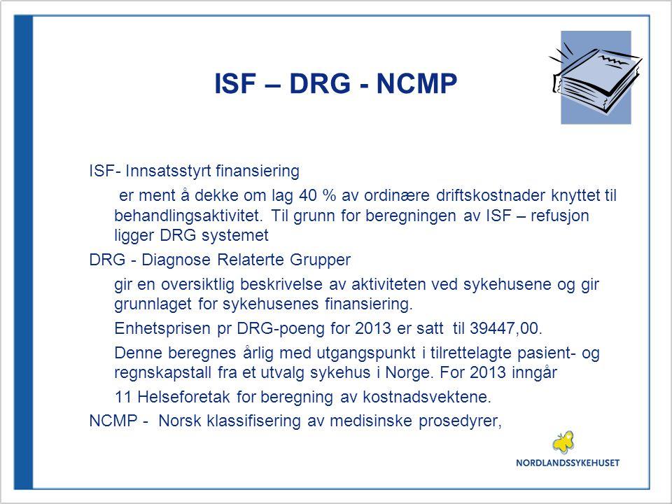 ISF – DRG - NCMP ISF- Innsatsstyrt finansiering