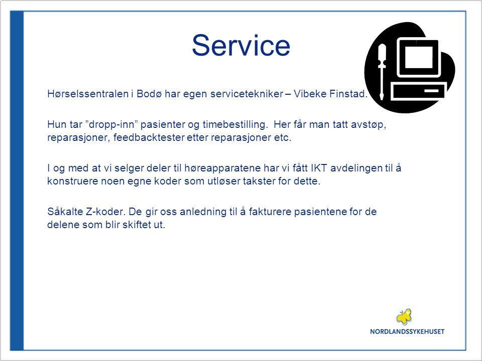 Service Hørselssentralen i Bodø har egen servicetekniker – Vibeke Finstad.