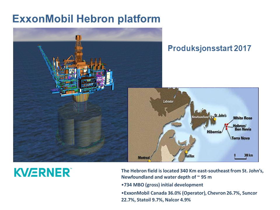 ExxonMobil Hebron platform