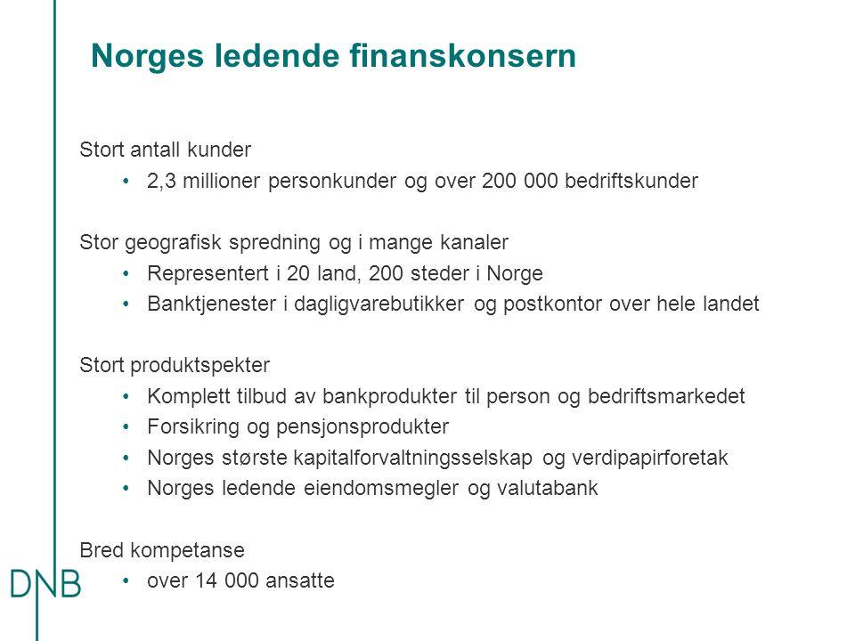 Norges ledende finanskonsern