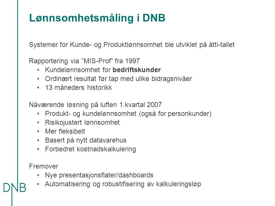Lønnsomhetsmåling i DNB