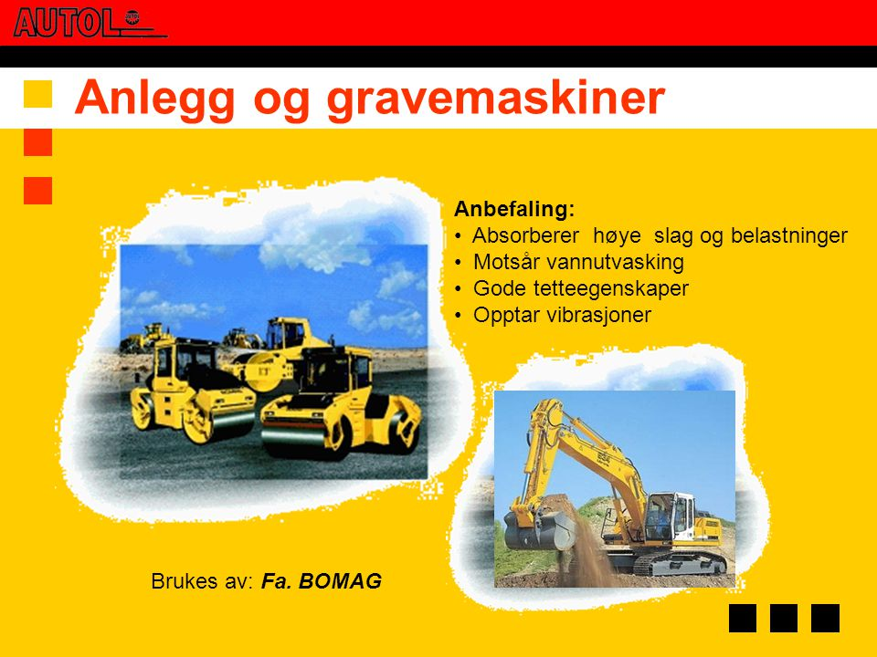 Anlegg og gravemaskiner