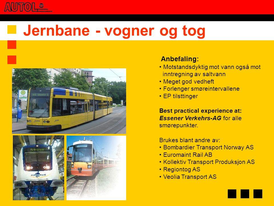 Jernbane - vogner og tog