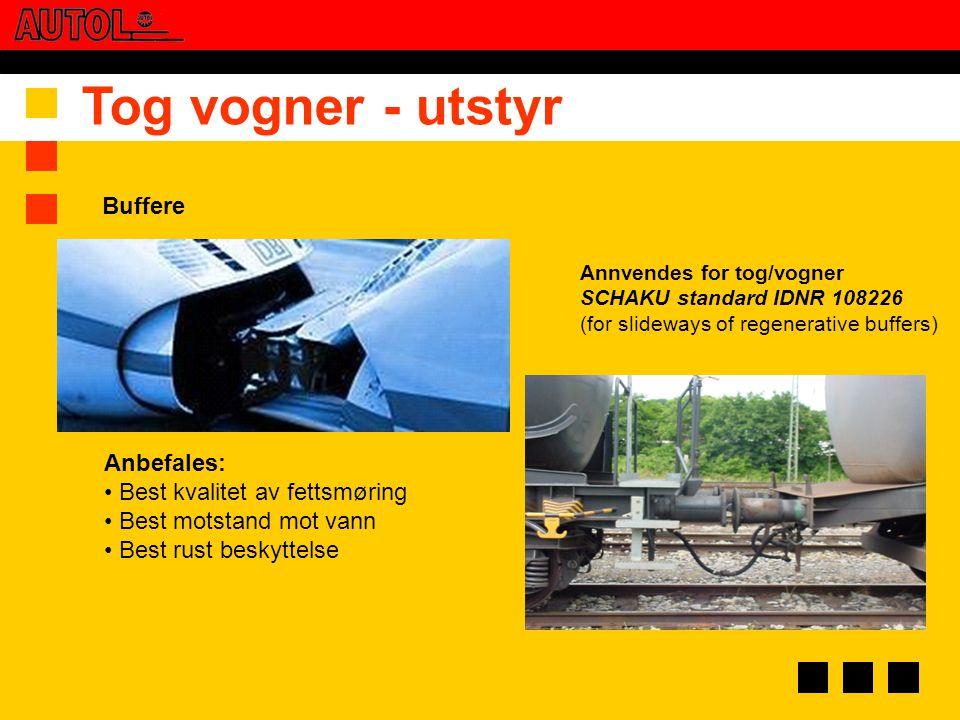 Tog vogner - utstyr Buffere Anbefales: Best kvalitet av fettsmøring
