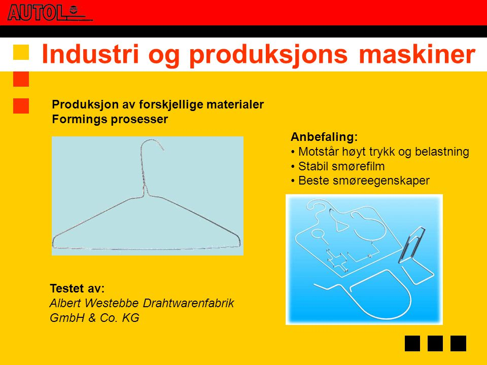 Industri og produksjons maskiner
