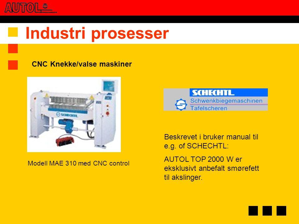 Industri prosesser CNC Knekke/valse maskiner