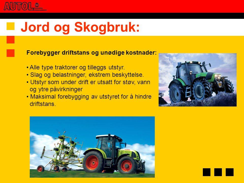 Jord og Skogbruk: Forebygger driftstans og unødige kostnader: