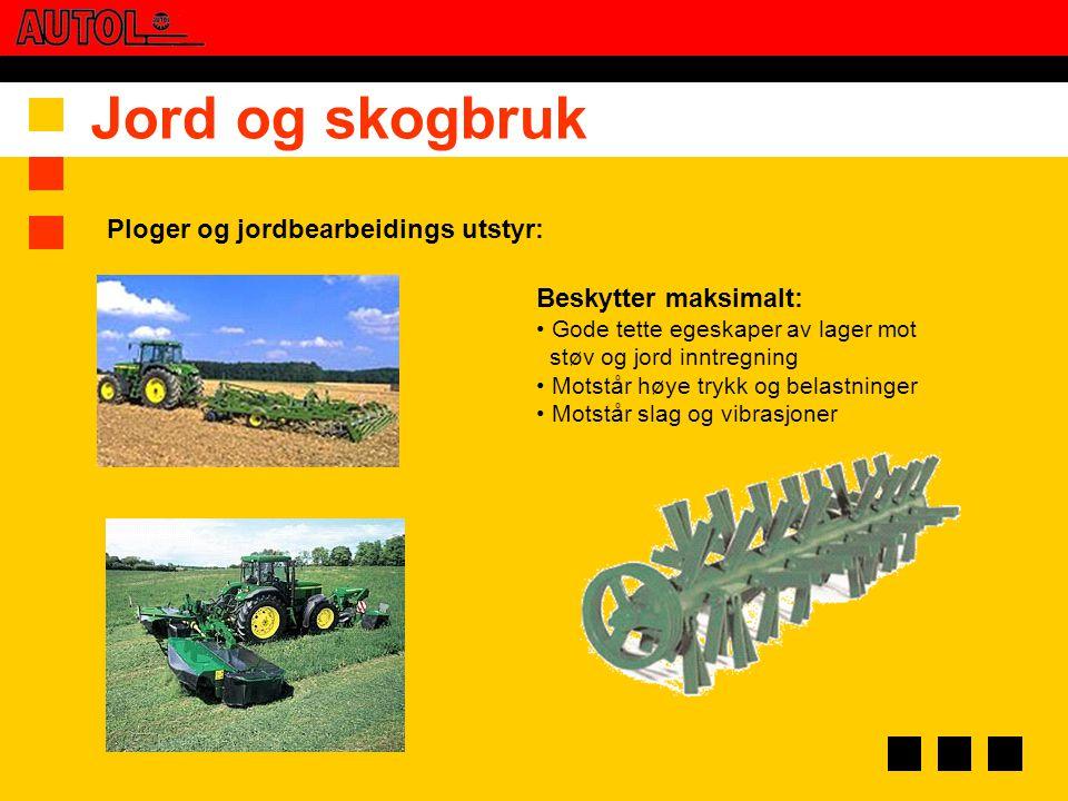 Jord og skogbruk Ploger og jordbearbeidings utstyr: