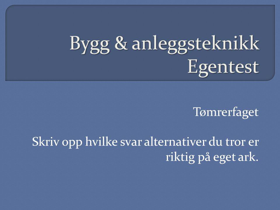 Bygg & anleggsteknikk Egentest