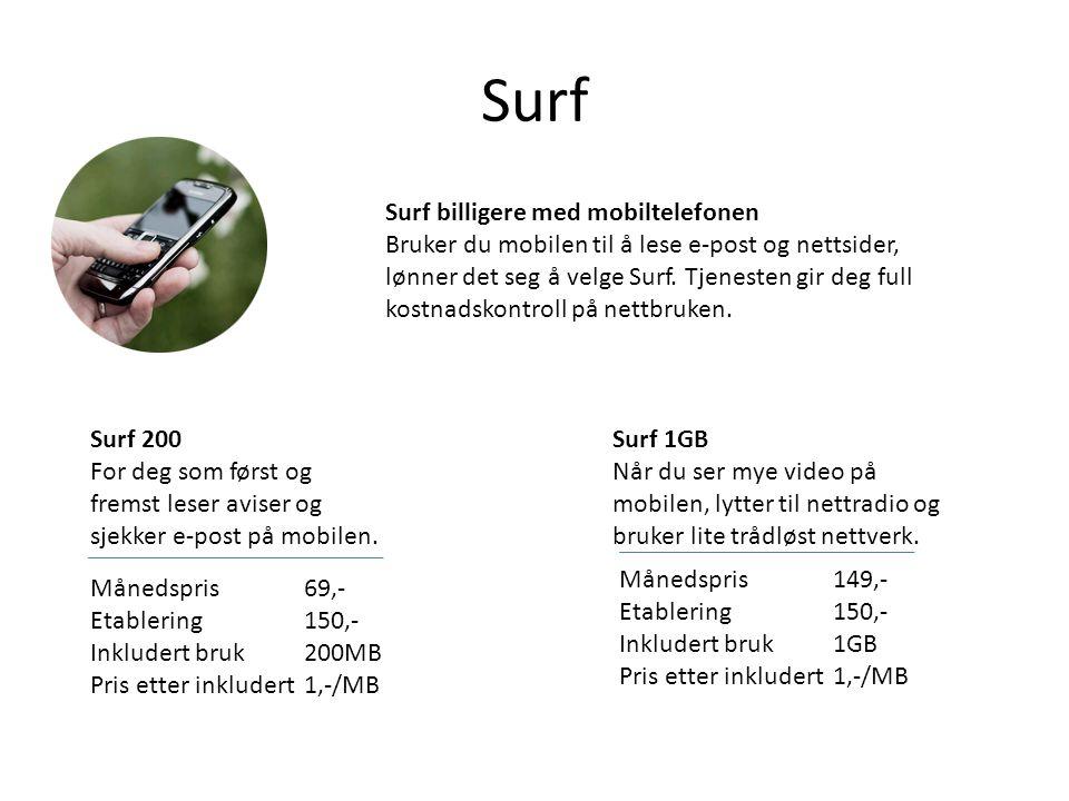 Surf Surf billigere med mobiltelefonen