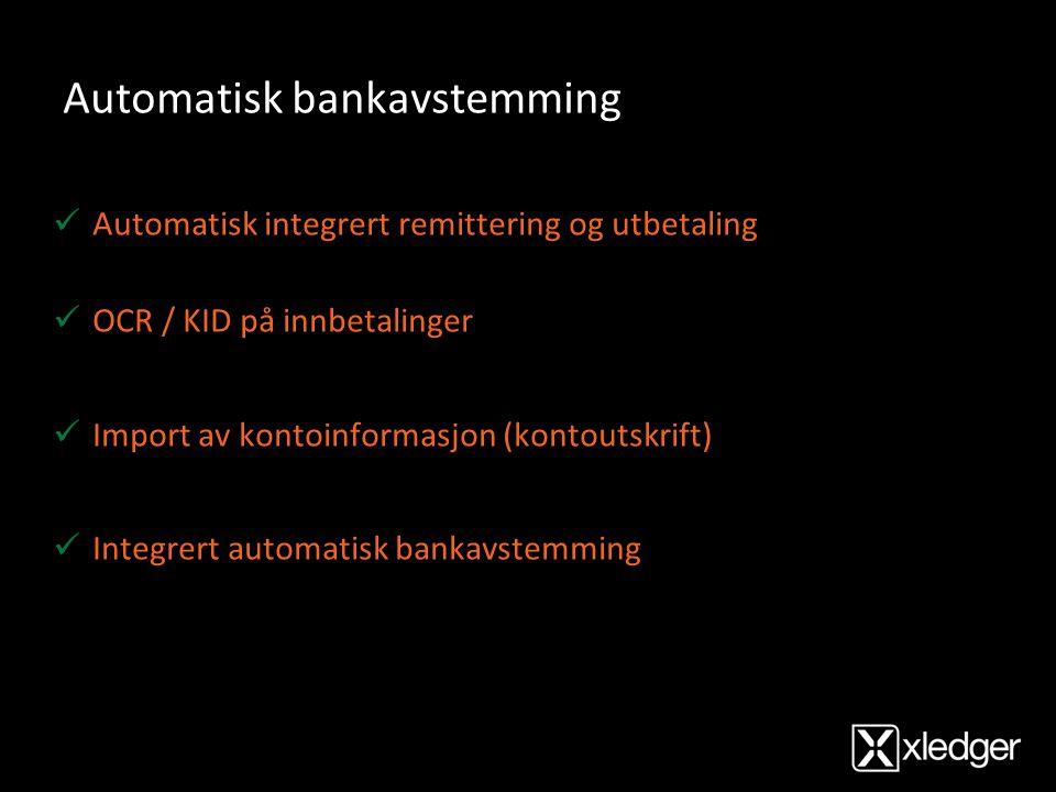 Automatisk bankavstemming