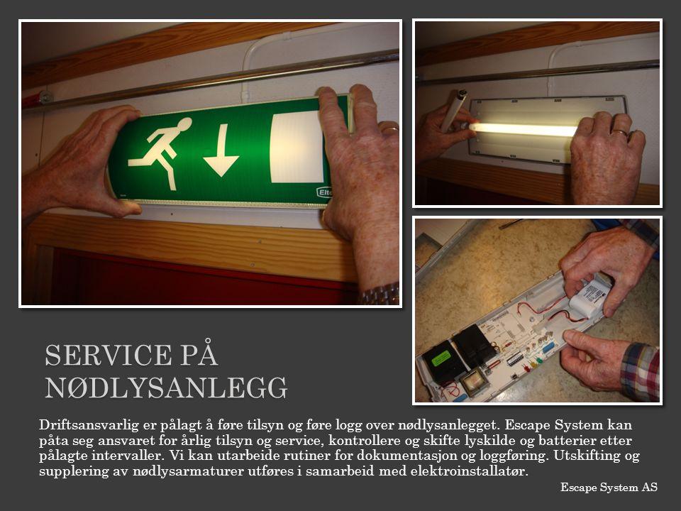 SERVICE PÅ NØDLYSANLEGG
