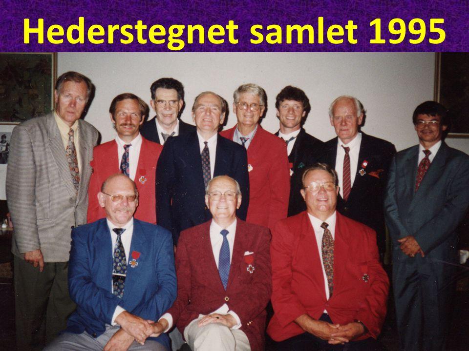 Hederstegnet samlet 1995