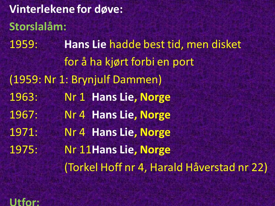 Vinterlekene for døve: