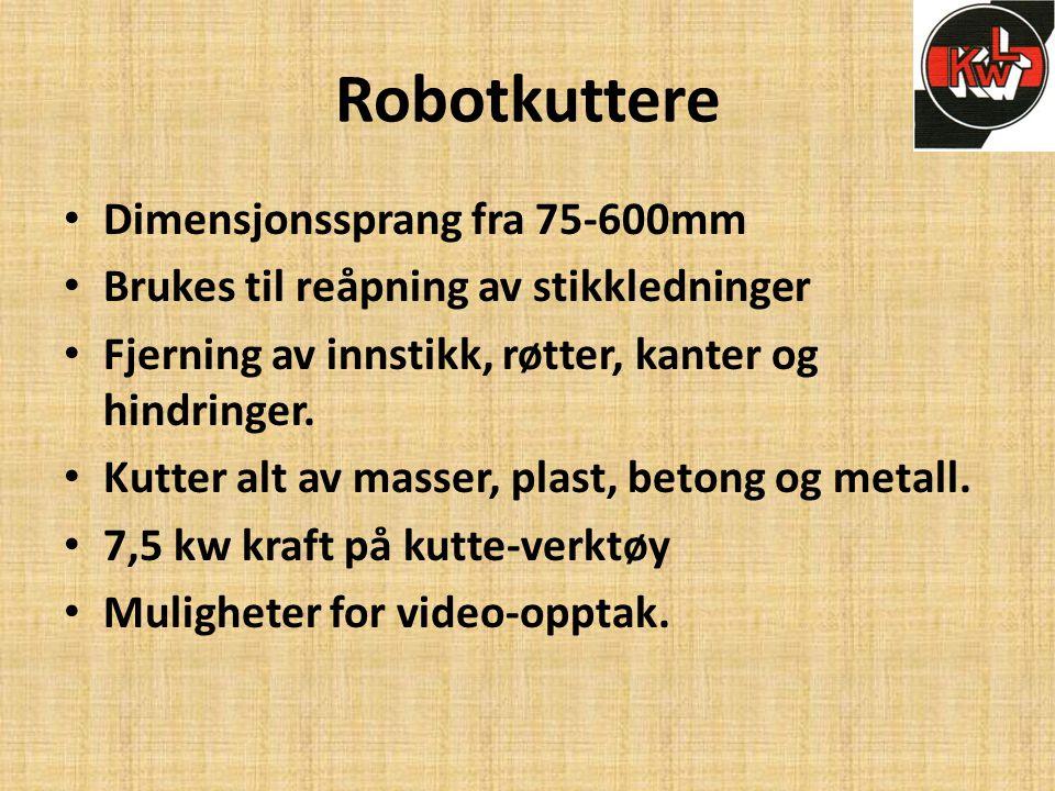 Robotkuttere Dimensjonssprang fra 75-600mm