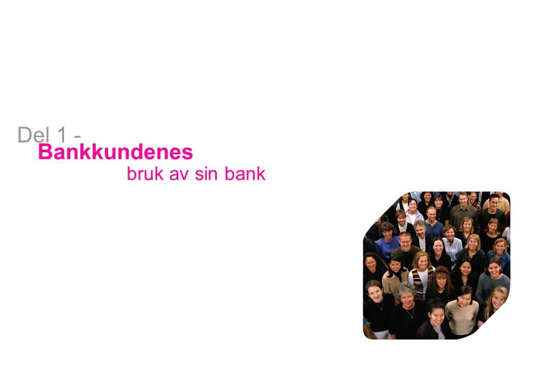 Del 1 - Bankkundenes bruk av sin bank Bank
