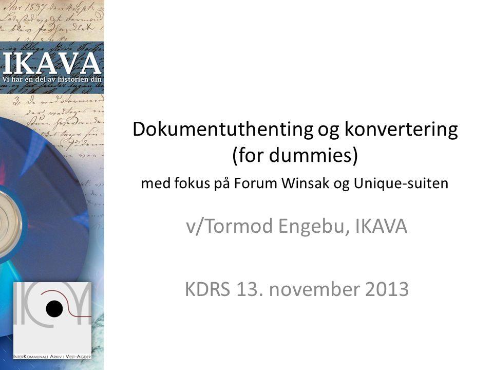 v/Tormod Engebu, IKAVA KDRS 13. november 2013