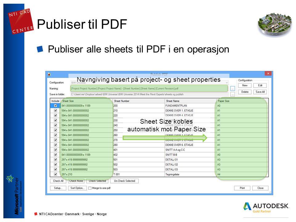 Publiser til PDF Publiser alle sheets til PDF i en operasjon
